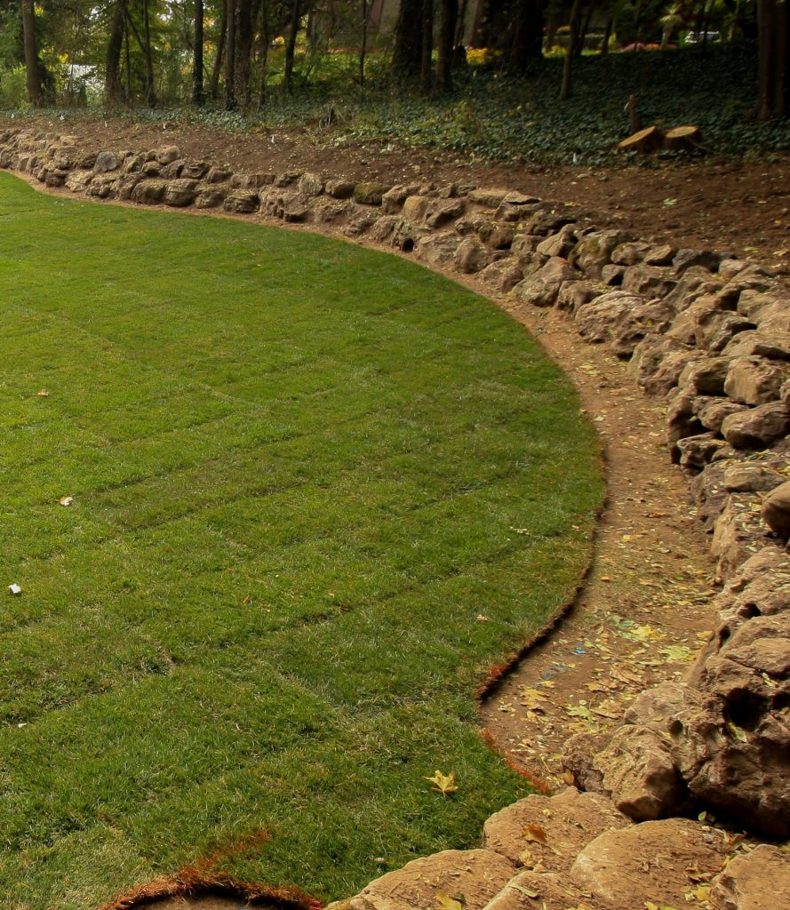 Landscape Boulder Retaining Wall Rochester NY