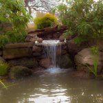 Watergarden using boulders to create natural look