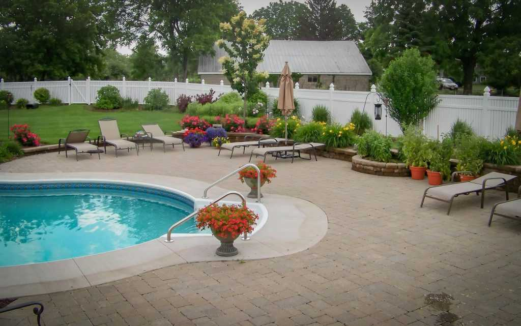 Custom Pool Project in Rochester NY