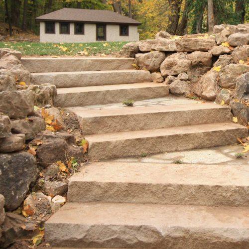 Natural Flagstone Steps Rochester NY