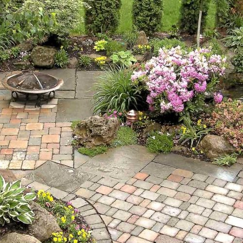 Example of Boulders and Natural stone used for pond and waterfalls Rochester NY