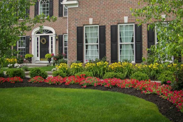 Front yard landscaping was designed and installed in 2005. A good design is the reason it still adds curb appeal and home value.