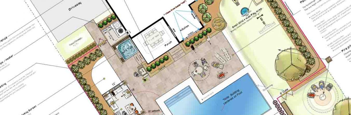 Inground pool Design planning patio space Rochester NY Project