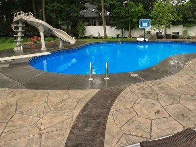 Inground Pools Rochester NY Diving Board Slide options