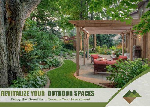 Backyard Landscape renovation makeover adds value