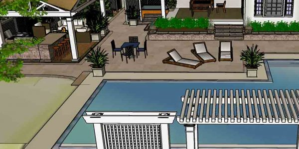 Inground Pool Design 3D Example Rochester NY