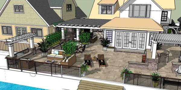 3D design rendering for a Backyard in Greece NY
