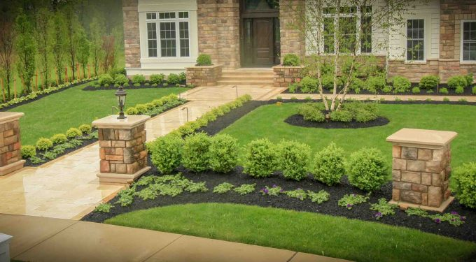 properly designed landscape example. Adds to home value