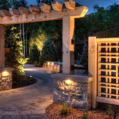 Backyard Landscape Renovation Rochester NY