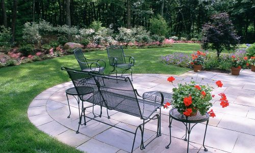Landscape Renovation Patio and planting Rochester NY