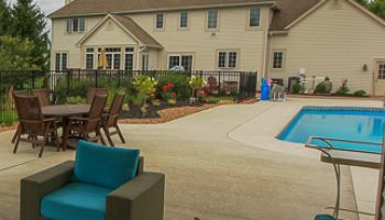 Concrete Pool Patio Example Pittsford, NY