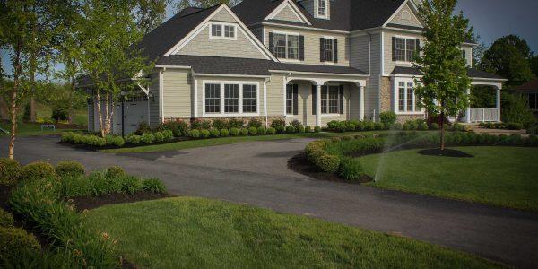 Landscape Renovation Frontyard makeover in Pittsford NY