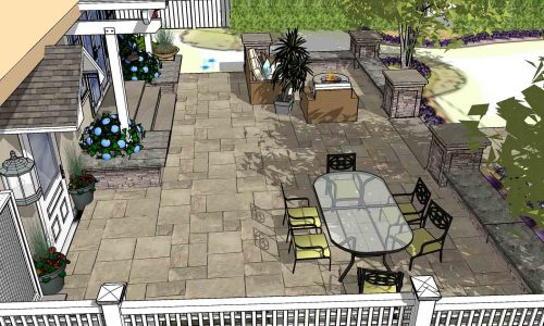 Backyard Landscaping Design example Rochester NY