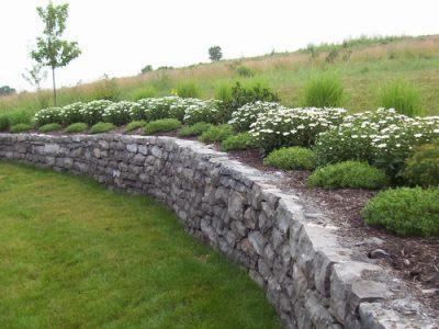 Natural Stone Retaining wall Pittsford NY